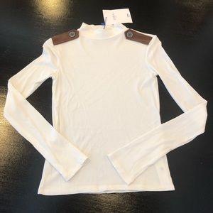 Zara mock neck cream top size small